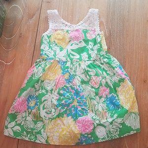 Lilly Pulitzer Mini Raegan Dress Hibiscus Stroll